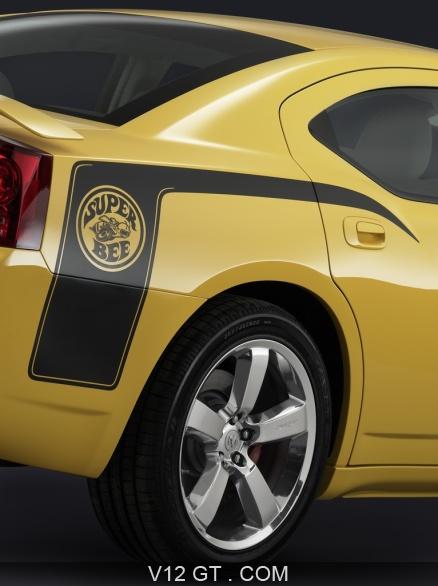 Dodge Charger Srt 8 Superbee Jaune Logo Aile Arri 232 Re
