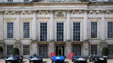 Hampton Court Palace Concours of Elegance 2017 - Jaguar Type D line-up