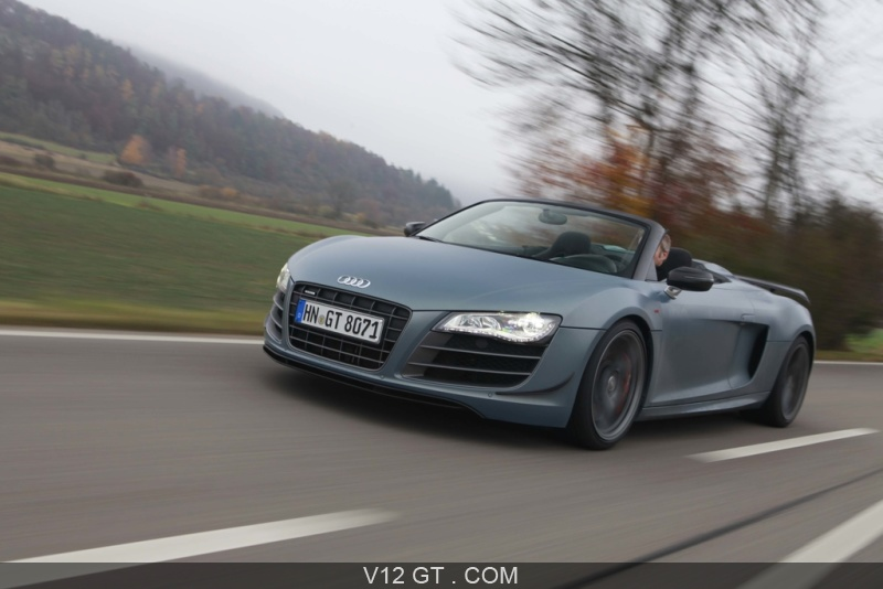 audi r8 gt spyder bleu mate 3 4 avant gauche travelling pench 5 audi photos gt les plus. Black Bedroom Furniture Sets. Home Design Ideas