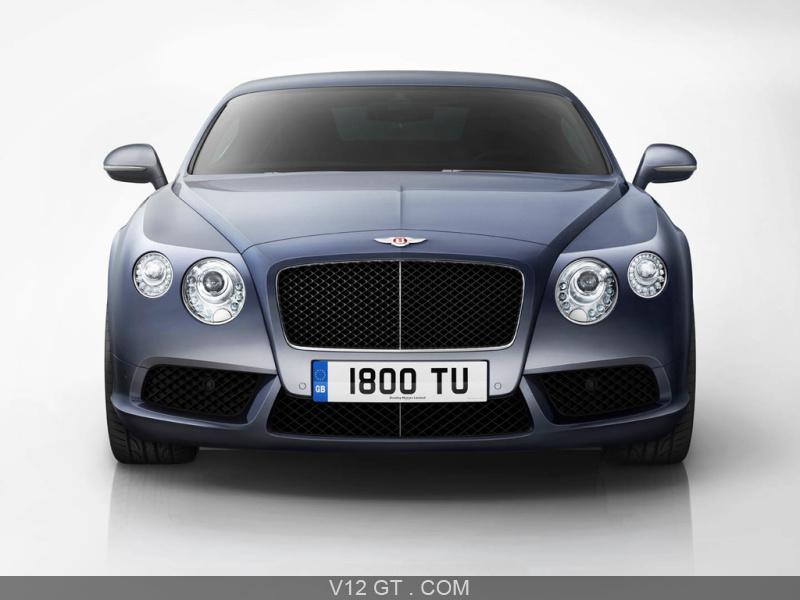 Bentley Continental Gt V8 Bleu Face Avant Bentley